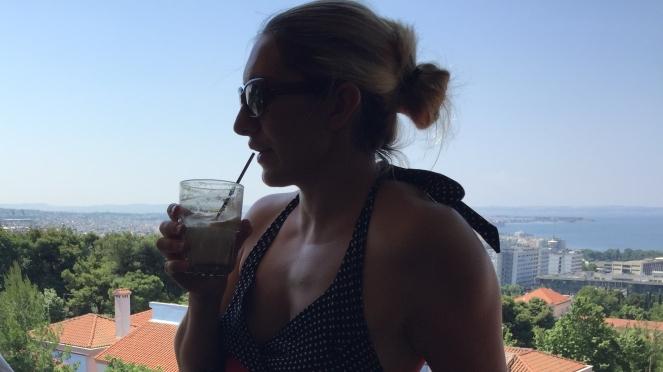 Thessaloniki-Ausblick-Kaffee